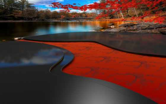 река, red, пасть, мост, красивый, dimension