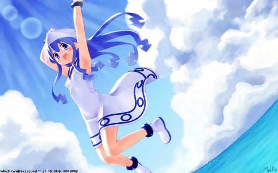blue, hair