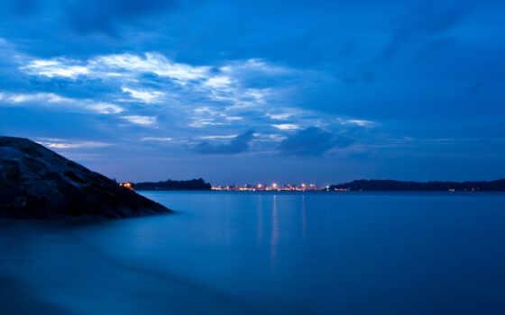 синева, вечер