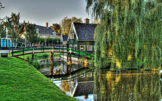 голландии, мост, голландия