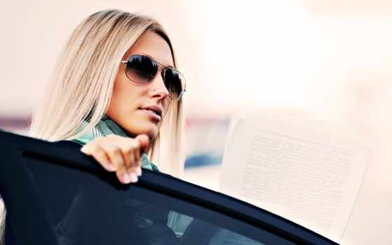 avto, devushka, очки