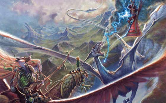 эльф, битва, горы