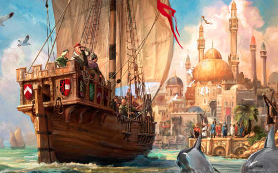 корабль, море, anno