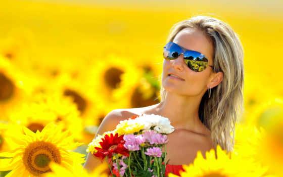 letout, girasoles, photos, stock, летнем, perfumes, су, парфюмерия, поле, девушка,