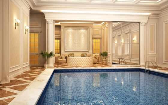 интерьер, design, house, luxury, classic, бассейн, современный, swimming, пульт, солнечный, крыша