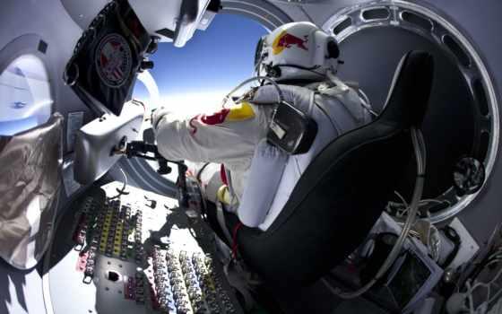 red, bull, stratos, феликс, баумгартнер, прыжок,