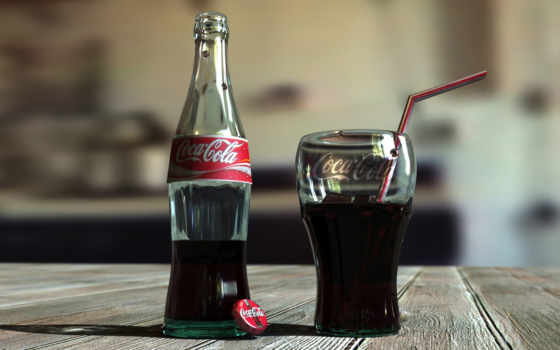 cola, coca, бутылка,