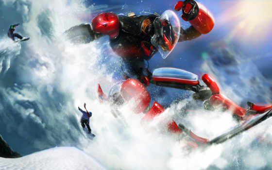 сноуборд, snowboarding, рисунки