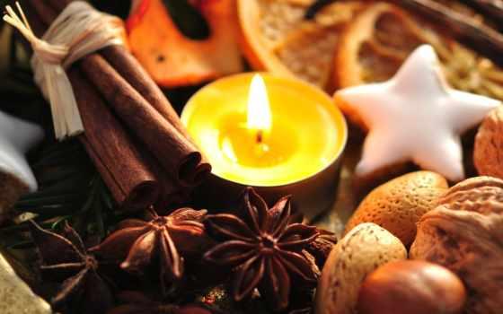 new, новый год, праздник, декор, свеча, орех, сладость, cookie, meal, cinnamon, красивый