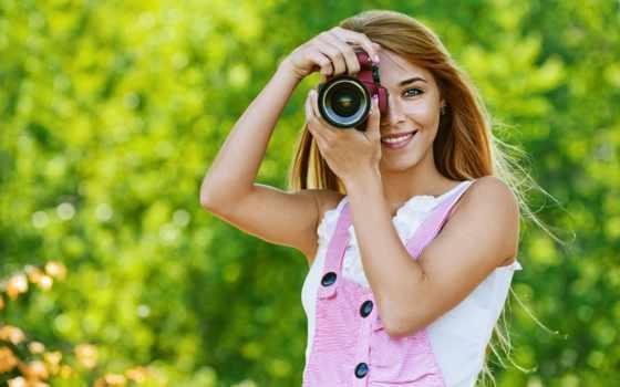 девушка, фотоаппарат, девушки