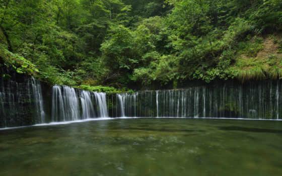 природа, япония, водопад