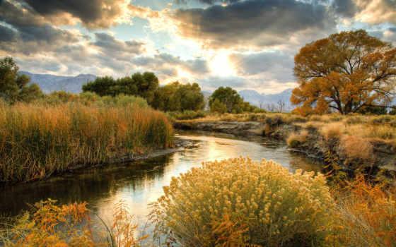 природа, реки, река, sun, thumb, облака, озеро, небо,