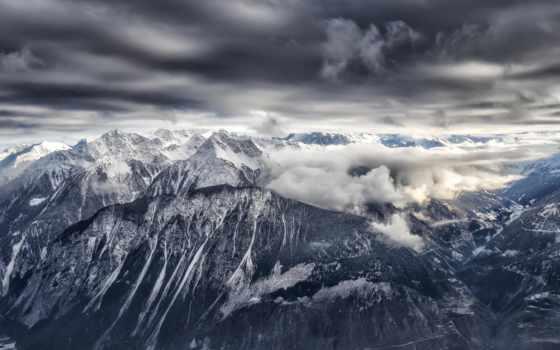 priroda, снег, горы