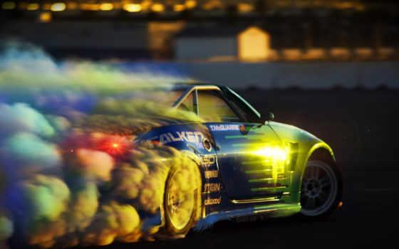 drift, спорткары, дым, rubber, ауди,