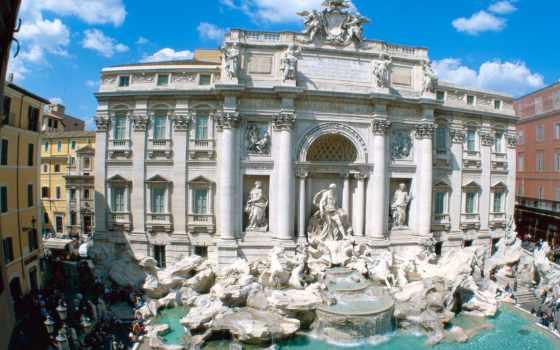 trevi, italy, fountain, рим, изображение,