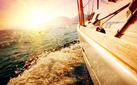 яхта, море, water, небо, sail, яхты, waves, пенка, брызги, настроение, ветер,