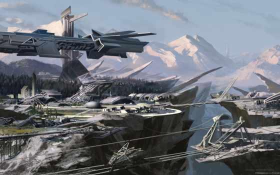 art, scifi, саймон, robert精美cg壁纸, среда, фантастика, science, concept,