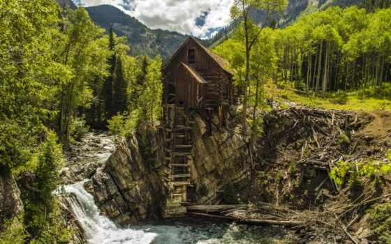 гора, лес, река, водопад, credit, сша, toggle, popularity