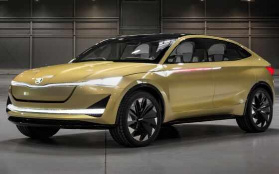 skoda, vision, concept, car, new