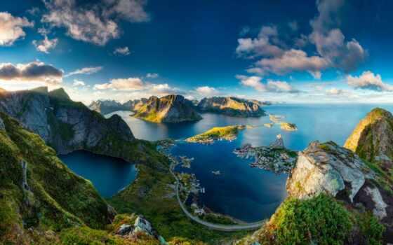 norwegian, природа, гора, country, красавица, море, northern, яndex