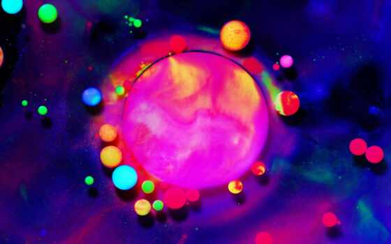 fluorescente, pantalla, ноутбук, neon, первую, resolution, desktop, dream, color, fluorescent, bubble