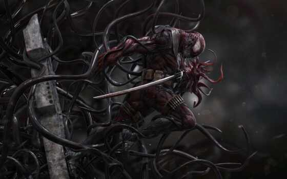 marvel, symbiote, art, venom, deadpool, comics, discover, pin, мужчина, комикс