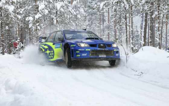 subaru, rally, winter