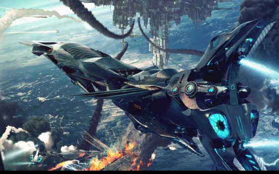 корабль, android, широкоформатные