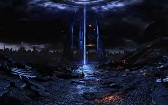 effect, mass, cosmic, корабль, reaper, игры, искусства, fan, предвестником, панорамы, iphone,