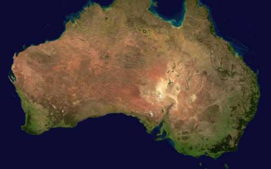 австралия, австралии, континент, карты, северу, опасных, животных, спутника, где,
