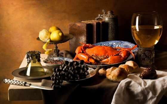 meal, напиток, натюрморт, lemon, вино, фотопечать, lima, коллекция, crab, который, столик