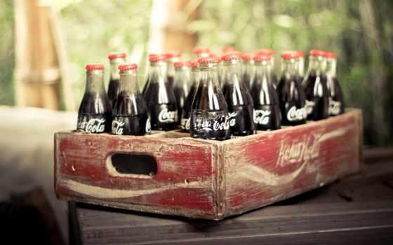 koka, cola, coca, kola, напиток, ящик,