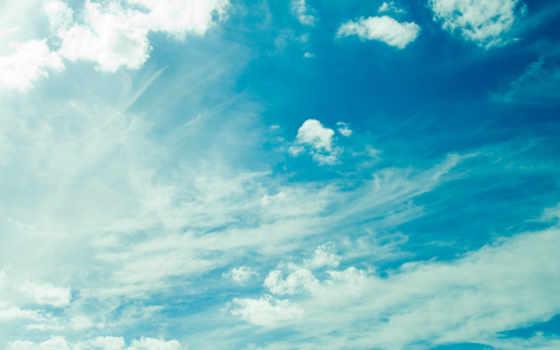 небо, oblaka, summer