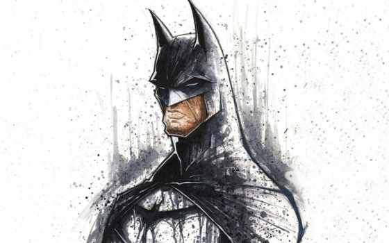 comics, art, batman, superheroes, white, фон, artwork, minimalistic,