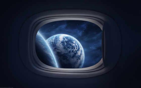 top, видно, cosmos, космос, иллюминатор, views, корабле, космическом, подробнее, planet, увеличить,