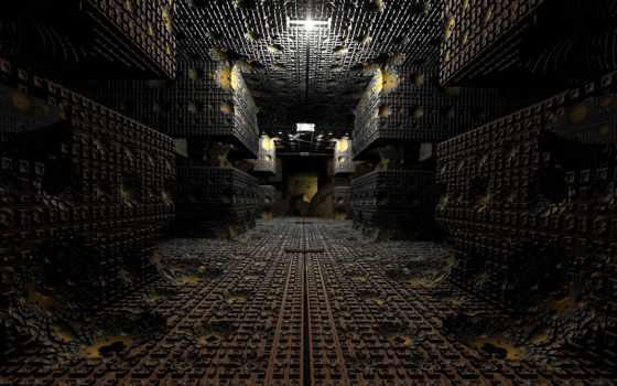 fractal, освещение,
