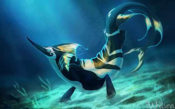 море, monster, fantasy, fish, robin, widescreen,