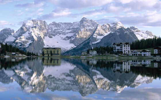 lake, misurina