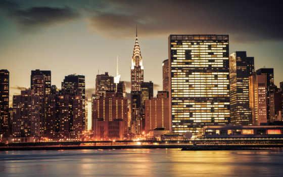 город, new, york, нью, building, chrysler, skylines,