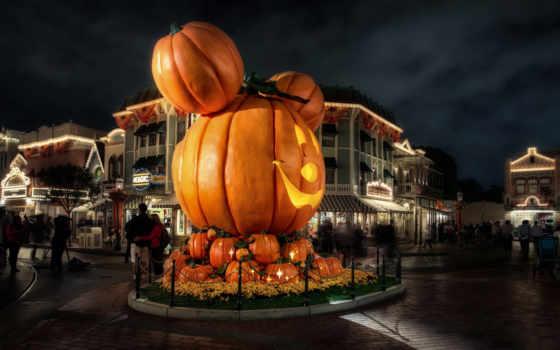 disneyland, ночь, halloween