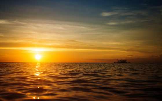 закат, images, море, природа, lifestyle, free, картинка, лодка,