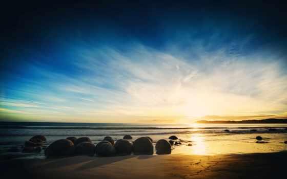 природа, море, water, landscape, песок, камни, горизонт, камень, block,