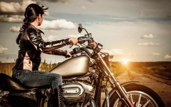 мотоцикл, девушка, ответы, мотоцикле, мечты, процента, изменившая, life, dream, закат, everything,