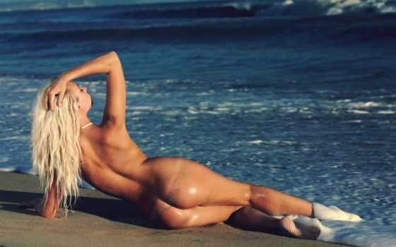 красивые, пляже, devushki, попки, море, голых,