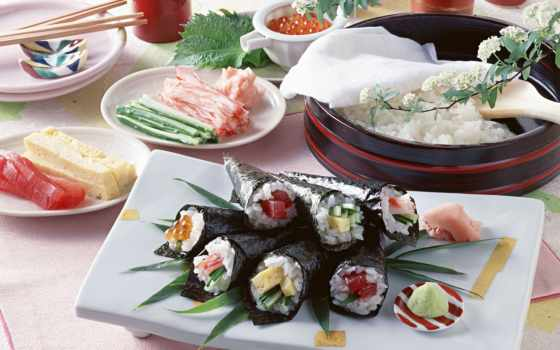 еда, икра, рис, японская, васаби, блюдо, food, роллы, hd, картинку, wallpaper, sushi,