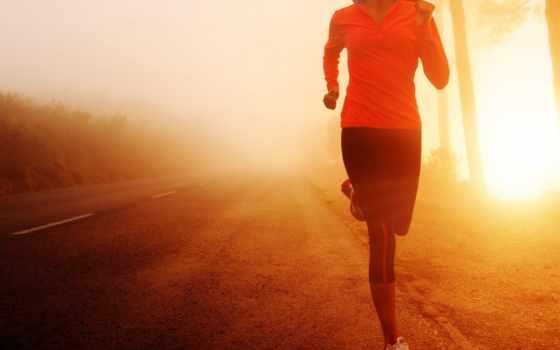 спорт, бег, девушка