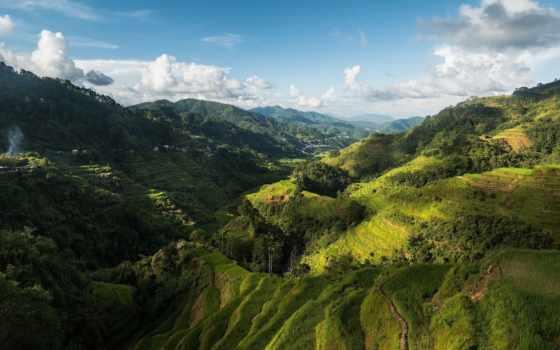 долина, philippines, гора