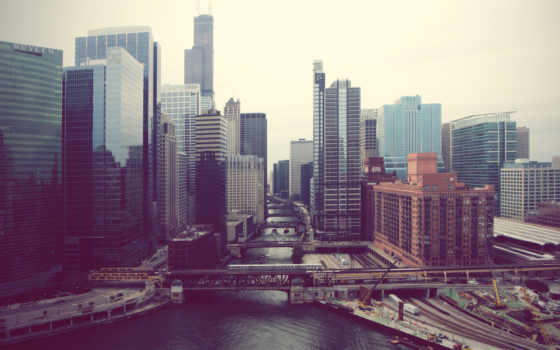 город, perspective, high, фон, widescreen, desktop, free,