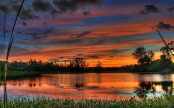 солнца, пейзажи -, закатов, сказочные, коллекции, закат, широкоформатных, страница,