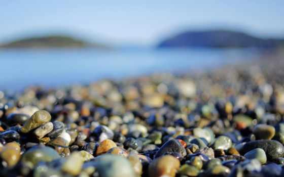 камни, морском, берегу, разрешениях, пляж, берег, разных, галька, black, море,